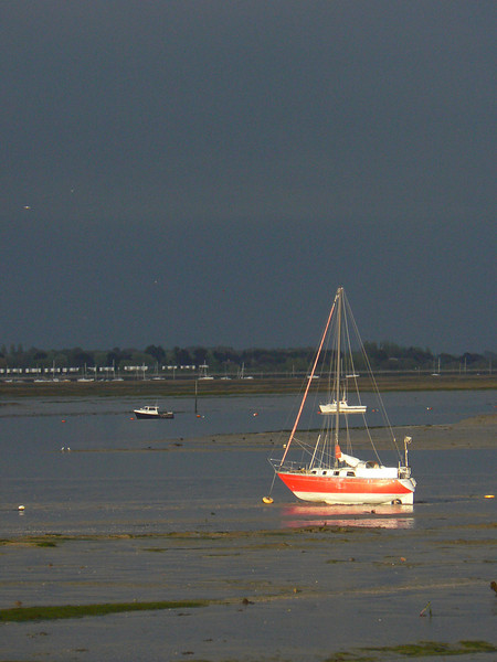 A moody skyline over Hayling Island. 6th May 2012