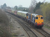20309 and 20308 head East at March with Pathfinder Railtours 1Z83 Crewe to Norwich charter. Sat 05/03/2011.