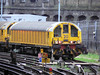 A closer view of LUL battery loco L20 at Farringdon. Sunday 13th January 2013.