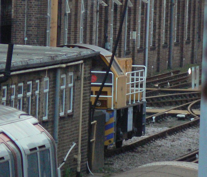 Schoma LUL diesel loco 11 'Joan' at Lillie Bridge depot. Sunday 13th January 2013.