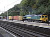 66535 heads South through Kings Langley with 4L92 Ditton to Felixstowe intermodal. Friday 17th September 2010.