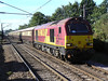 67022 heads North through Welwyn North with 1Z70 Kings Cross to Oxenholme Northern Belle. Saturday 18th September 2010.
