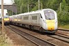 New Intercity Express Trains 800001 and 800002 approach Knebworth with 5X65 Grantham to North Pole, having been on daytime test North of Peterborough. Thursday 22nd June 2017.