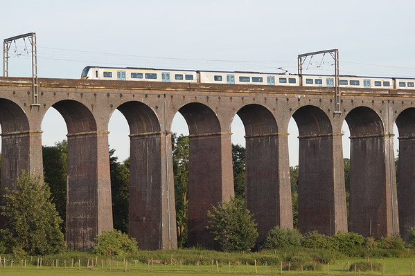 An unidentified Class 700 crosses Welwyn Viaduct. Thursday 4th July 2019.