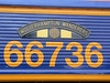 The Wolverhampton Wanderer's nameplate detail on the side of GBRf's 66736 at Railfest at the National Railway Museum, 4th June 2012