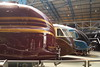 Streamlined 6229 Duchess of Hamilton, streamlined motorcar / observation car W4W and 4468 Mallard are seen at the National Railway Museum, York. Friday 5th May 2017.
