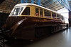 Streamlined railcar W4W is seen at the National Railway Museum, York. Friday 5th May 2017.