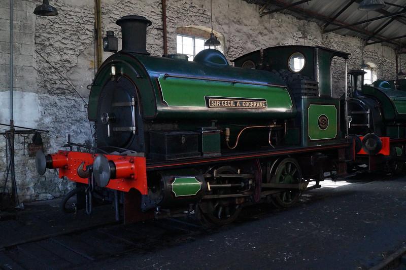 Robert Stephenson & Hawthorns RSHN 7409 'Sir Cecil A Cochrane' at the Tanfield Railway. Monday 14th May 2018.