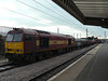 60035 heads South at Peterborough with 6L15 Toton - Whitemoor engineers. Wednesday 10th July 2013.
