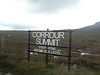 The Corrour Summit sign on the West Highland Line in the middle of Rannoch Moor. 17/07/11