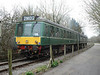 Class 107 DMU 52025 and 52006 arrives at Bitton from Avon Riverside at the Avon Valley Railway diesel gala, Bitton. Saturday 13th April 2013.