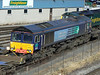'Not to be used' 66420, ex DRS, at Southampton Maritime Depot. Sat 30th June 2012.