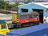 Hunslet hire loco 08873 at Southampton Maritime Depot. Sat 30th June 2012.