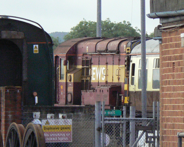My last DBS loco, 08735, is seen at Eastleigh Depot. Sat 30th June 2012.
