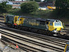 08785 and 70008 are seen at Southampton Maritime Depot. Sat 30th June 2012.