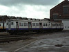 Ex Met line LUL cars 5017 and 5105 at Eastleigh Works. Sat 30th June 2012.