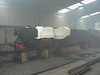 11 BLACK PRINCE in the smokey running shed at the Romney, Hythe & Dymchurch Railway. Sun 1st July 2012.