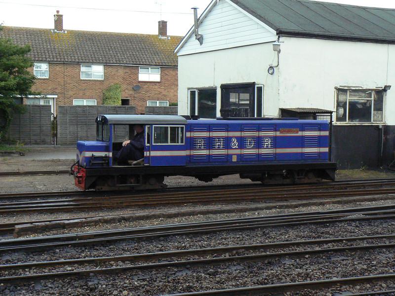 14 CAPTAIN HOWEY at the Romney, Hythe & Dymchurch Railway. Sun 1st July 2012.