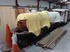 A partly built 4-6-2 locomotive at the Romney, Hythe & Dymchurch Railway. Sun 1st July 2012.
