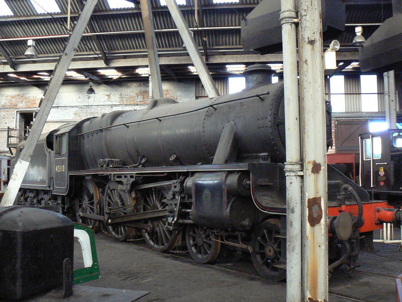 45110 at Barrow Hill Roundhouse. Saturday 30th January 2010.