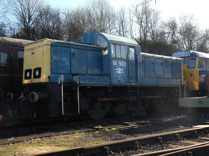 14901 (D9524) at Elsecar Heritage Centre. Saturday 30th January 2010.