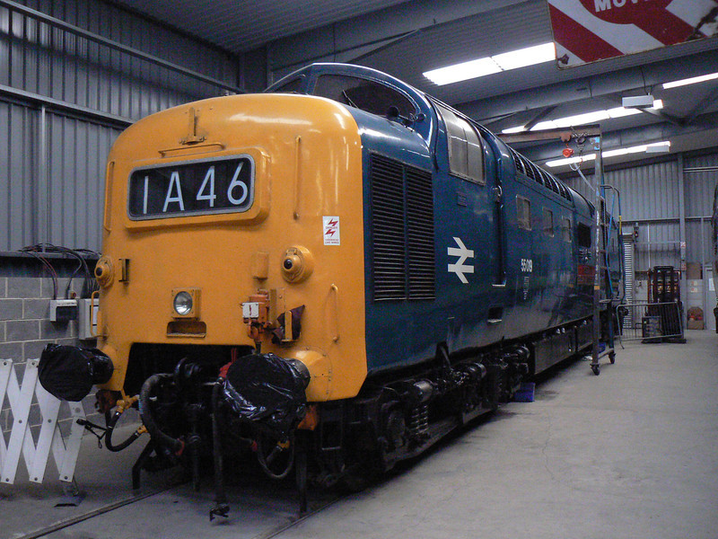 55019 in the DPS shed at Barrow Hill Roundhouse. Saturday 30th January 2010.