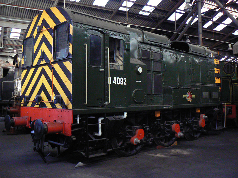 D4092 at Barrow Hill Roundhouse. Saturday 30th January 2010.