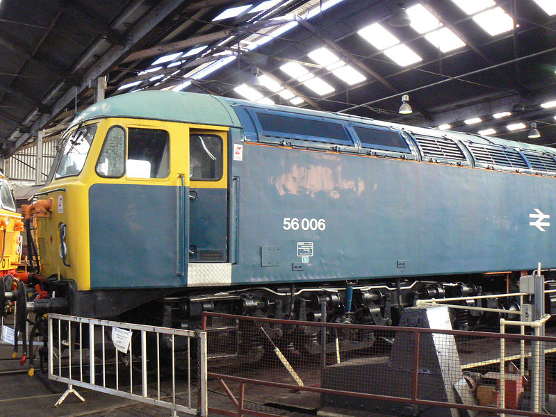 56006 at Barrow Hill Roundhouse. Saturday 30th January 2010.