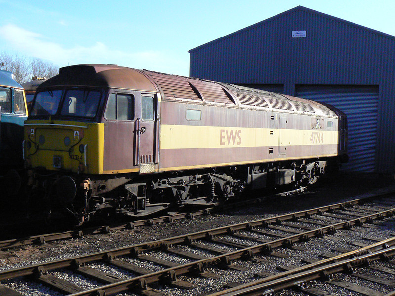 47744 at Barrow Hill Roundhouse. Saturday 30th January 2010.