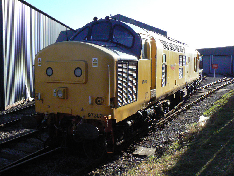 97302 at Barrow Hill Roundhouse. Saturday 30th January 2010.