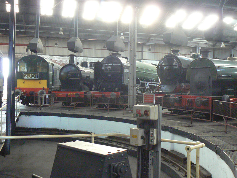 D8132, 8217, 60532 Blue Peter and 506 at Barrow Hill Roundhouse. Saturday 30th January 2010.