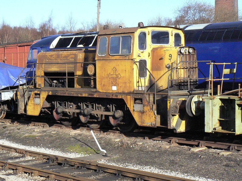 TH 237v 'Coalite No. 9' at Barrow Hill Roundhouse. Saturday 30th January 2010.