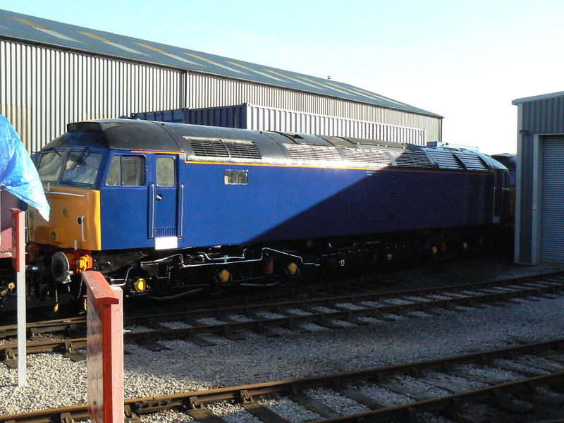 47810 newly outshopped in DRS blue at Barrow Hill Roundhouse. Saturday 30th January 2010.