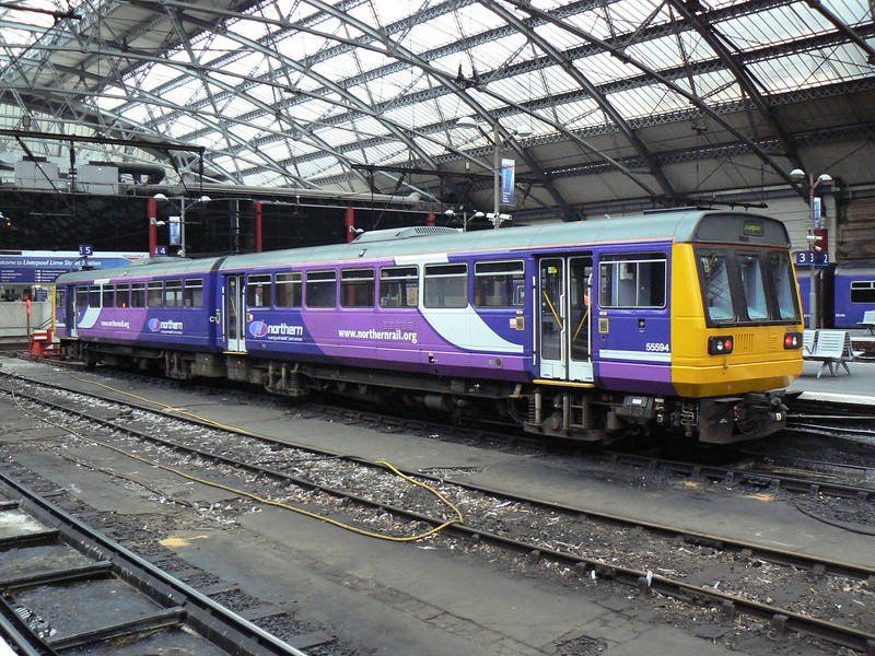 142003 is seen at Liverpool Lime Street. Saturday 20th October 2012.
