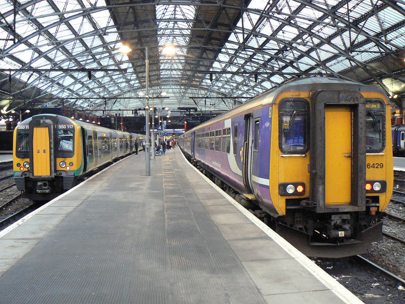 156429 and 350117 (the train i arrived on) at Liverpool Lime Street. Saturday 20th October 2012.
