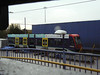 Stored Birmingham metro tram '01' at Wednesbury depot. Saturday 29th October 2011