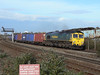 66540 'Ruby' passes Tyseley with a Southbound intermodal. Saturday 29th October 2011