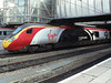 Alstom Pendolino advertising livery 390004 at Birmingham New Street station. Saturday 29th October 2011