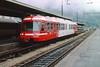 5 May 2002 :: Transports de Martigny et Régions SA (TMR) branded Mont Blanc Express BDeh4/8 (Z 800) at Saint-Gervais-les Bains-le-Fayet