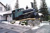 5 May 2002 :: At Chamonix-Mont-Blanc Station the line for the Mer de Glace begins on The Chemin de fer du Montenvers. Seen on a plinth outside the station is this 1923 built SLM Winterthur 0-4-2 rack locomotive no. 6
