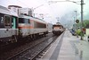 4 May 2002 :: Passing trains at Grenoble with SNCF Class 25500 no. 25632 approaching the camera
