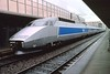 4 May 2002 :: Even on such a dull day this TGV appeared clean and bright in the station at Grenoble