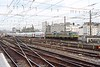 9 October 2003 :: Leading a double deck train towards Brussels Midi are a pair of SNCB Class 27 electric locomotives with 2703 at the front of the train