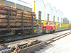 8 July 2004 :: Timber is carried over the Zillertalbahn in standard gauge wagons and conveyed over the narrow gauge lines utilising special transporter vehicles