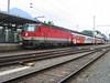 7 July 2004 :: 1144 238 making a call at Jenbach Station