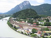 7 July 2004 :: A view of the railway at Kufstein running alongside the River Inn