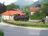 "8 July 2004 :: 0-6-2T Zillertalbahn No. 1 ""Raimund"" on a plinth at Jenbach"