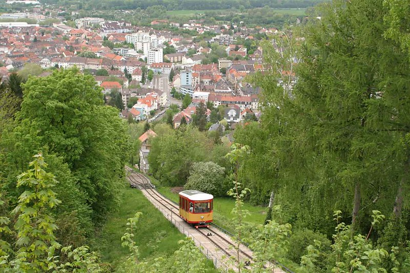 1 May 2004 :: In Karlsruhe is The Turmbergbahn which is the oldest funicular railway in Germany