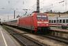 2 May 2004 :: DB 101 044 making a station call at Augsburg Hbf