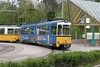 30 April 2004 :: In a special Arosa livery (matching the livery on the RhB trains between Chur and Arosa) on line 15 of the Stuttgart Stadtbahn is railcar 638 at Ruhbank